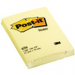 Image for 3M Post-it Note 51x76mm Yellow 656 (1)