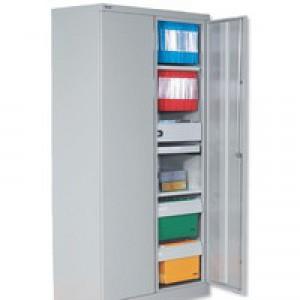 Bisley Cupboard Steel High 2-Door W914xD470xH1970-1985mm Grey Ref YECB0919