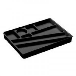 Durable Idealbox Desk Drawer Organiser Tray Black 1712004060