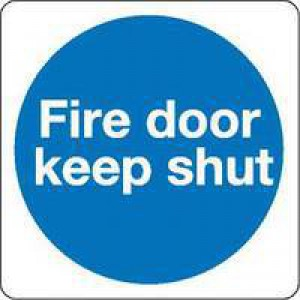 Fire Door Keep Shut 100mm Self-Adh Sign