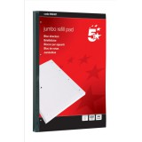 Image for 5 Star Jumbo Pad Feint Sidebound Ruled with Margin 60gsm 4-Hole Punched 200 Sheets A4 [Pack 4]