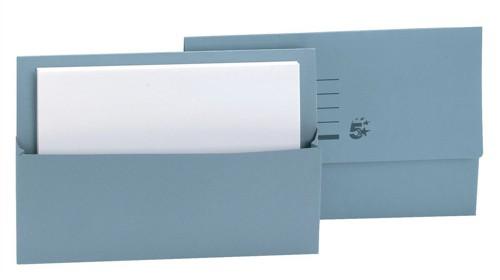 5 Star Document Wallet Fcap 250gm Blue