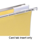 Image for 5 Star Card Inserts for Clenched Bar Suspension File Tabs White Ref 100331400 [Pack 50]