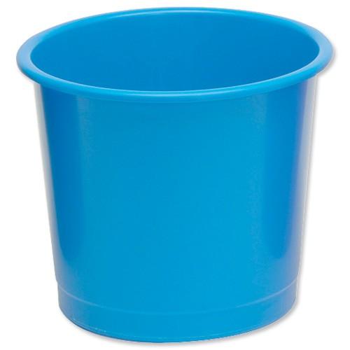 Business Waste Bin Polypropylene 14 Litres D304xH254mm Blue