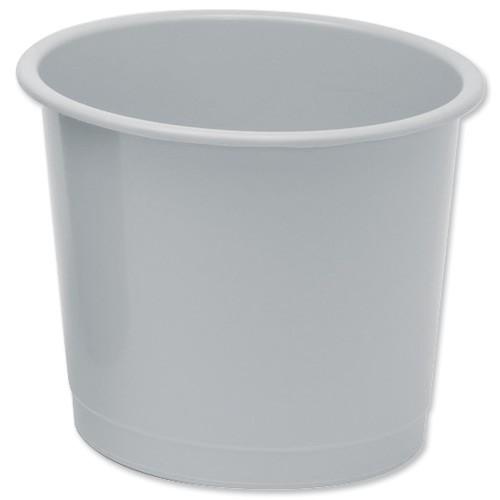 5 Star Office Waste Bin Polypropylene 14 Litres D304xH254mm Grey