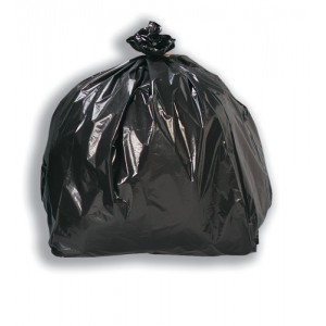5 Star Black Bin Liners Light Duty Pk200