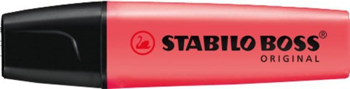 Stabilo Boss Highlighters Chisel Tip 2-5mm Line Red Ref 70/40/10 [Pack 10]