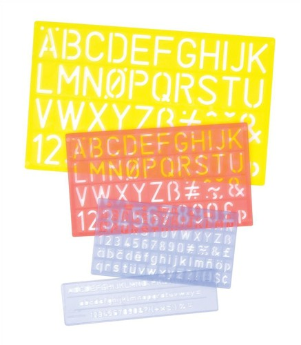 Helix Lettering Stencil Set of 4 Pk5