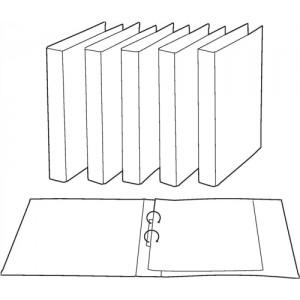 Image for Basics Ringbinder Paper Over Board Size 25mm Black [Pack 10]
