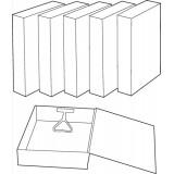Image for Basics Box File 75mm Spine Foolscap Cloud [Pack 10]