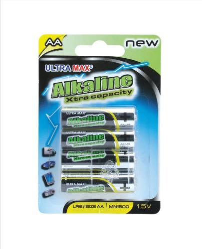 Basics Alkaline Batteries AA [Pack 4]