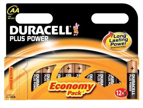 AA Duracell Plus Batteries PK12