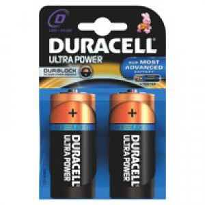 Duracell Size D Ultra Battery Pk2