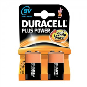 Duracell Plus Power Battery Size 9V Pk2