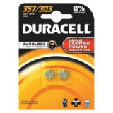 Image for Duracell Button Battery Silver Oxide Pack of 2 1.5 D357 15031685