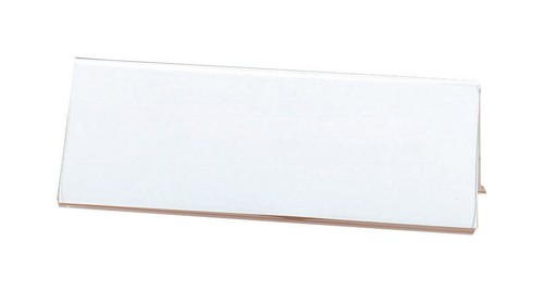 Seminar Sign Holder Tent Shaped A5 Clear