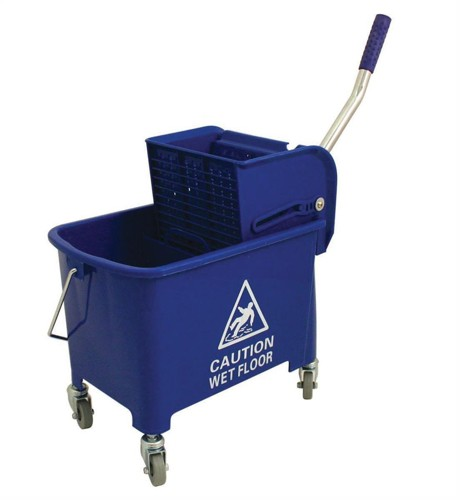 20ltr Mobl with Casters Mop Bucket Blue