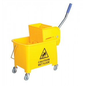 20ltr Mobl with Casters Mop Buck Yellow