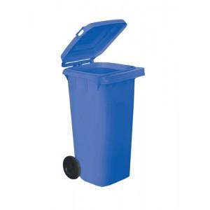 Wheelie Bin High Density Polythene with Rear Wheels 120 Litre Blue