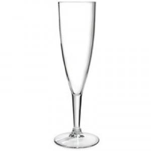 Plastic Champagne Glass Clr Pk10