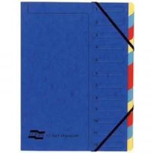 Europa A4 Blue 12-Part Organiser 5222Z