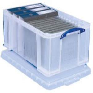 Really Useful Clear 48L Storage Box 48C