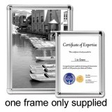 Image for Business Display Frame Aluminium Front Loading with Fixings A3