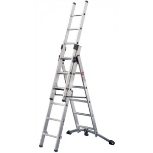 Combi Ladder 3 Section Capacity 150kg Rungs 2x6 and 1x5 for H4.8m 15.4kg