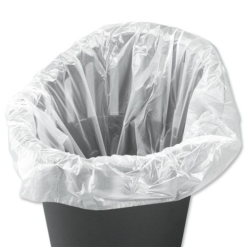 Business Swing Bin Liner Light Duty 40Ltr Capacity W315xD210xH710mm 7.5 Micron White [Pack 1000]