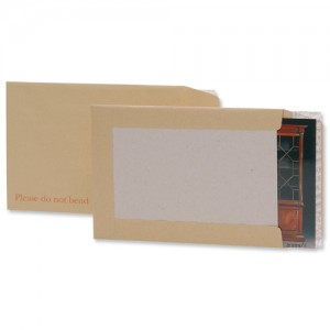 Business Envelopes Recycled Board-backed Hot Melt Peel and Seal 120gsm Manilla C3 [Pack 50]