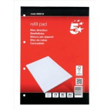 Image for 5 Star Refill Pad FSC Feint Headbound Ruled with Margin 60gsm 4-Hole Punched 80 Sheets A4 [Pack 10]