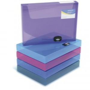 Rapesco Rigid Boxfile 40mm A4 Asstd Pk5