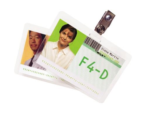 Rexel GBC Credit Card 54x86mm Pk100 250mic 3740300