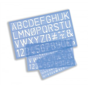 Stencil Pack of Letters Numbers and Symbols 10mm 20mm 30mm