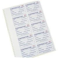 Identibadge Contractor Duplicate Refill