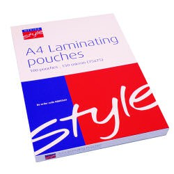 Style Laminating Pouch A4 150mic Pk100