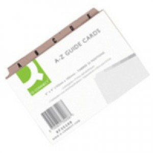 Q-Connect Guide Card 152x102mm A-Z Pk25