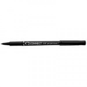 Q-Connect OHP Pen Perm Fine Black Pk10