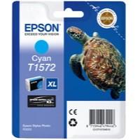 Epson T1572 Inkjet Cartridge Turtle 25.9ml Cyan Ref C13T15724010