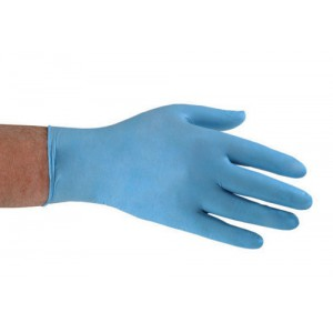 Nitrile Food Preparation Gloves Powder-free Large Size 8.5 Blue [50 Pairs]