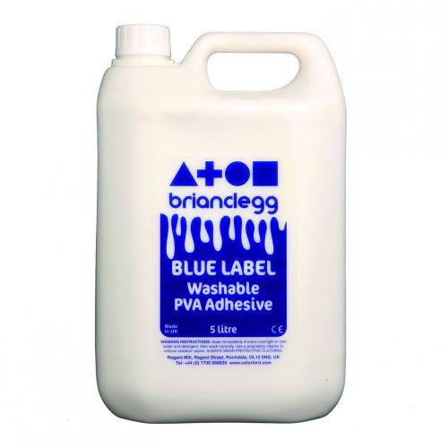 Brian Clegg PVA Glue Blue Label 5 Litre