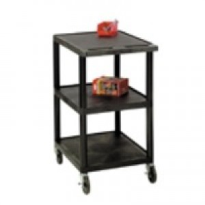 GPC 3 Shelf Service Trolley Black GI341L