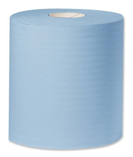 Towel Roll Industrial Cleaning Towel Giant 2-Ply 312mmx350m Blue Ref Y04440