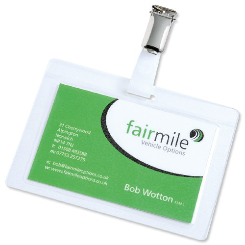 3L Self Laminating ID Tags and Clips 11130 (PK10)