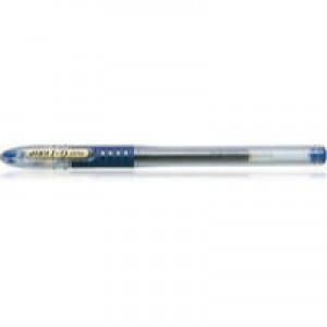 Pilot G-107 Grip Gel Rollerball Pen Fine 0.7mm Tip 0.4mm Line Blue Ref BLGPG10703 [Pack 12]