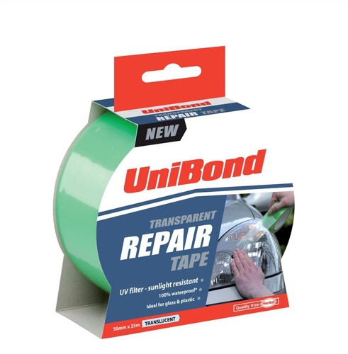 UniBond Transparent Repair Tape Waterproof 50mm x 25m Ref 1668006