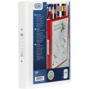 Elba Vision A4 White 4 Ring Binder PVC