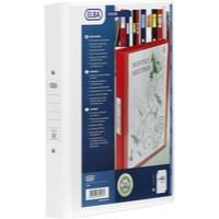 Elba Vision A4 White 4 Ring Binder PVC