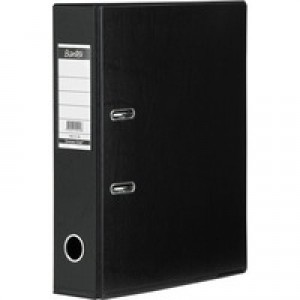Elba 70mm Lever Arch File PVC Black A4