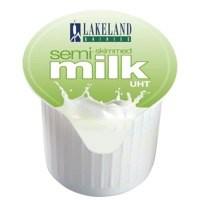 Lakeland UHT HalfFat MilkPots 12ml Bx120